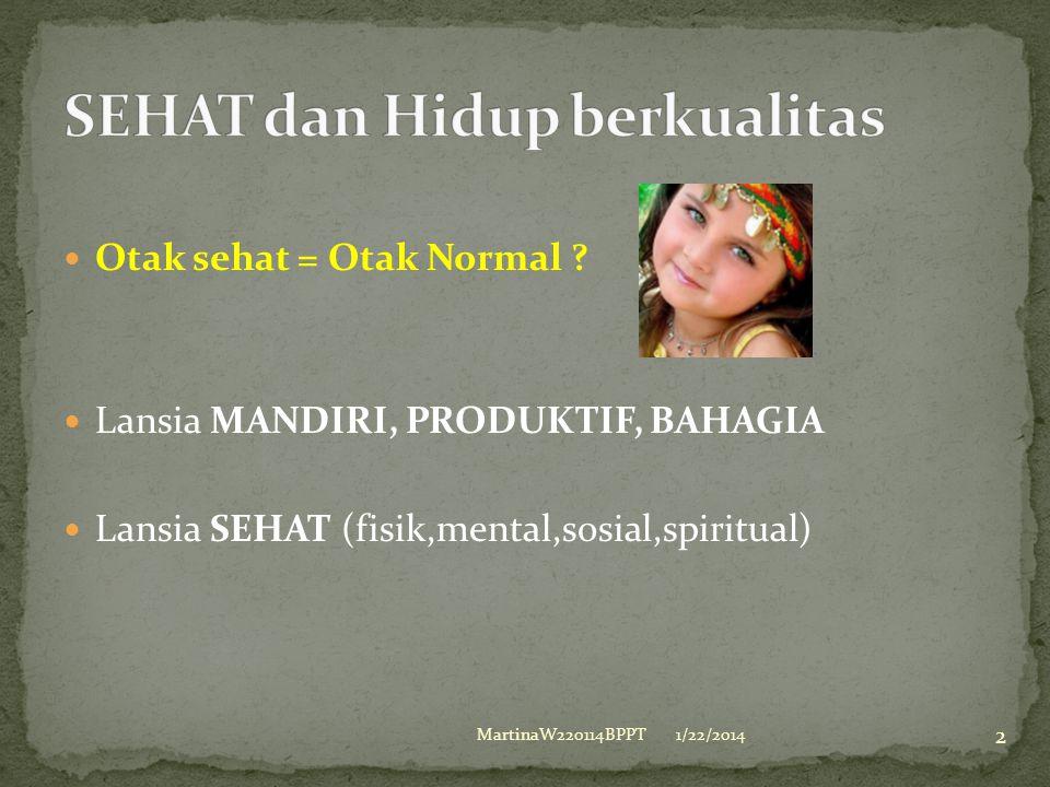 Otak sehat = Otak Normal .