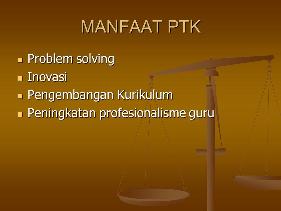 PENYUSUNAN RENCANA PTK Mengidentifikasi masalah Mengidentifikasi masalah Menganalisis masalah dan menentukan faktor- faktor yang diutamakan sebagai penyebab utama.