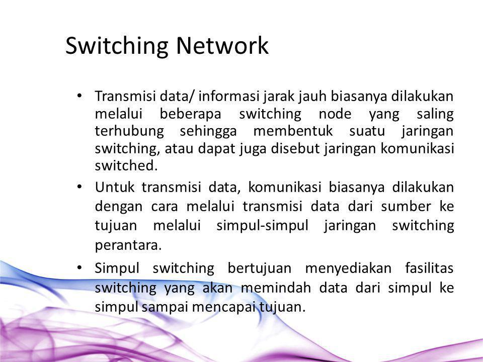 Transmisi data/ informasi jarak jauh biasanya dilakukan melalui beberapa switching node yang saling terhubung sehingga membentuk suatu jaringan switch