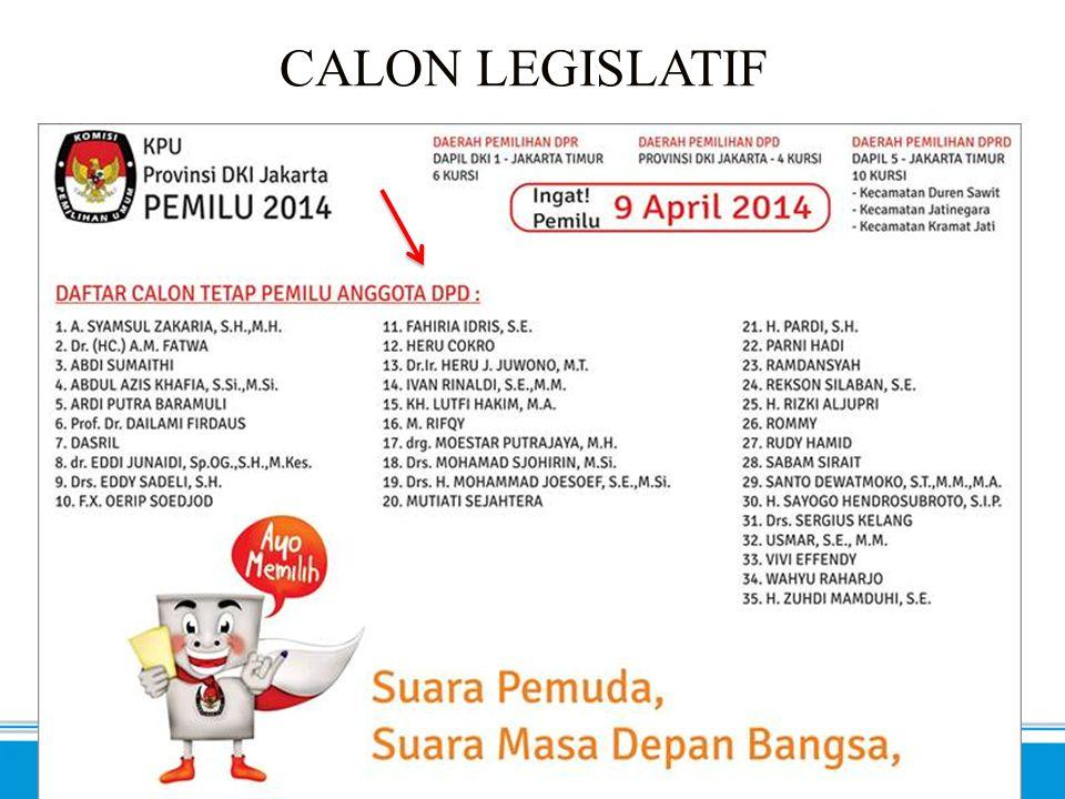 SEMA 2014 - Inklusif. Progresif. Profesional. CALON LEGISLATIF (2)
