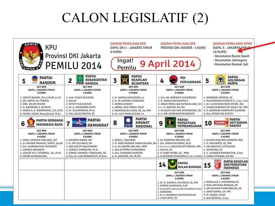SEMA 2014 - Inklusif. Progresif. Profesional. CALON LEGISLATIF (3)