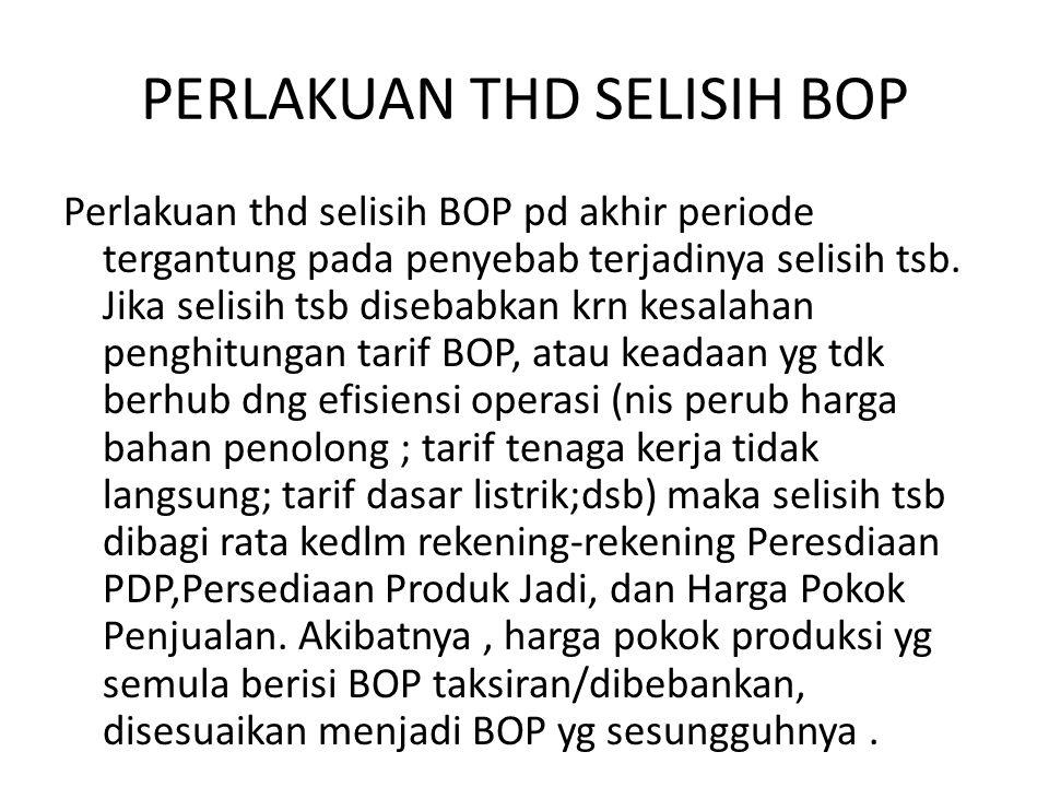 PERLAKUAN THD SELISIH BOP Perlakuan thd selisih BOP pd akhir periode tergantung pada penyebab terjadinya selisih tsb.