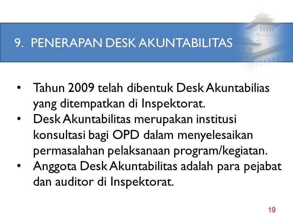 8.MELAKSANAKAN EVALUASI ORGANISASI PERANGKAT DAERAH 18 Lampiran Peraturan Menteri Dalam Negeri Nomor 57 Tahun 2007 huruf D angka 2, terdapat klausul a