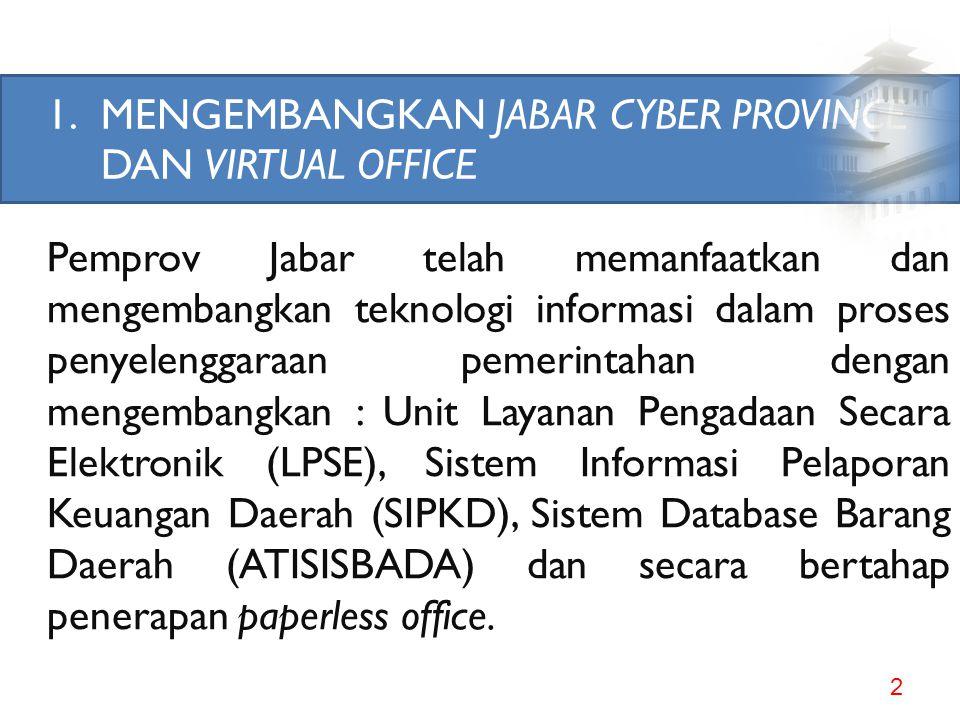 REFORMASI BIROKRASI PEMERINTAH PROVINSI JAWA BARAT oleh : Lex Laksamana Sekretaris Daerah Provinsi Jawa Barat Jakarta, 19 September 2011 PEMERINTAH PR