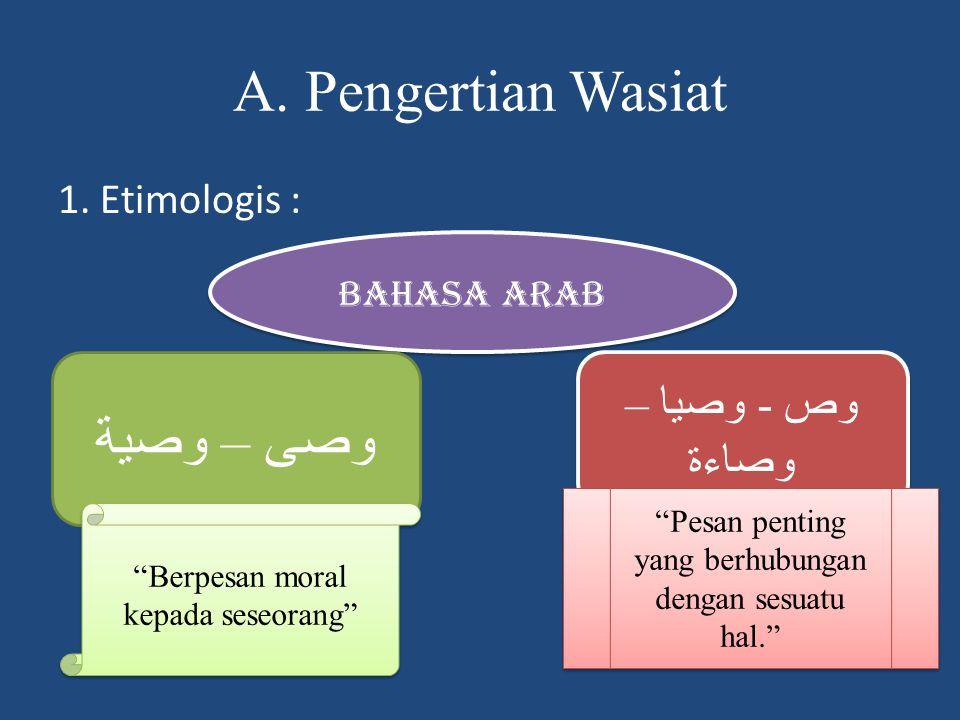 2.Terminologis Sekumpulan kata- kata yang berupa peringatan, support, perbaikan.