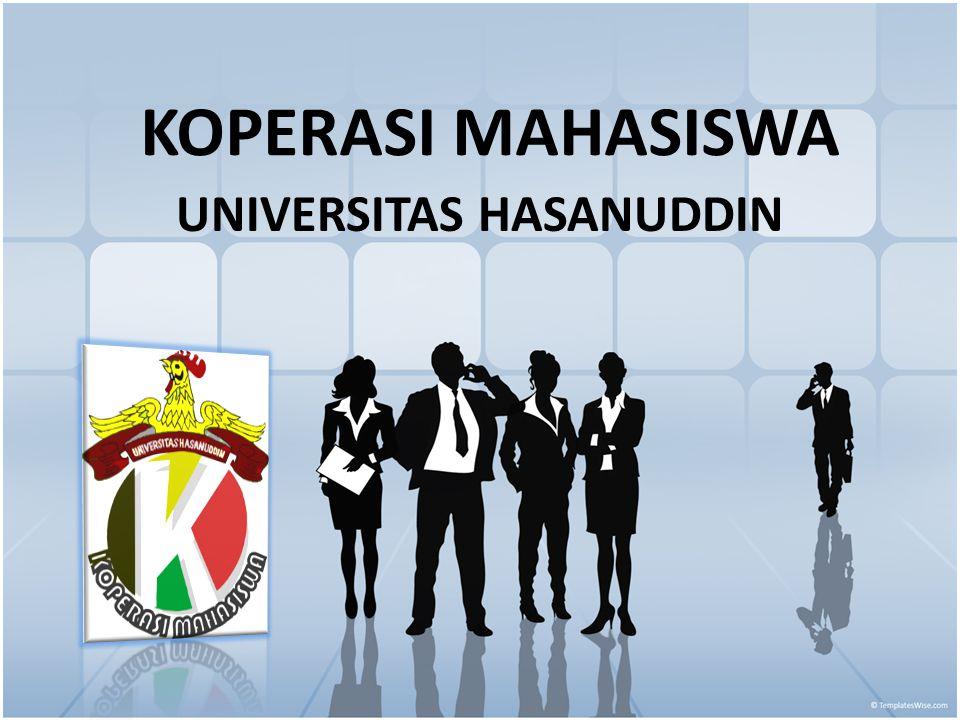 SEJARAHSEJARAH Koperasi mahasiswa Universitas Hasanuddin yang disingkat KOPMA UNHAS, didirikan pada tanggal 8 Agustus 1981 dan mendapat pengesahan dari KAKANWIL koperasi Sul-sel pada tanggal 16 september 1981 dengan badan hokum No.4173/BH/IV dengan jumlah pendiri 32 orang.