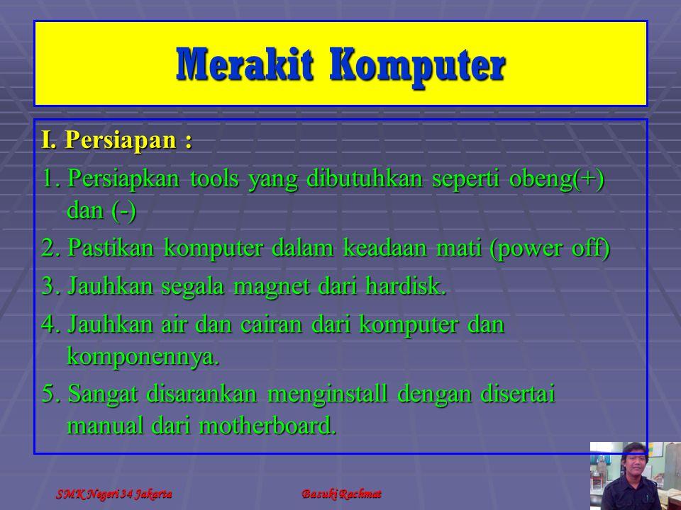 SMK Negeri 34 JakartaBasuki Rachmat I.Persiapan : 1.