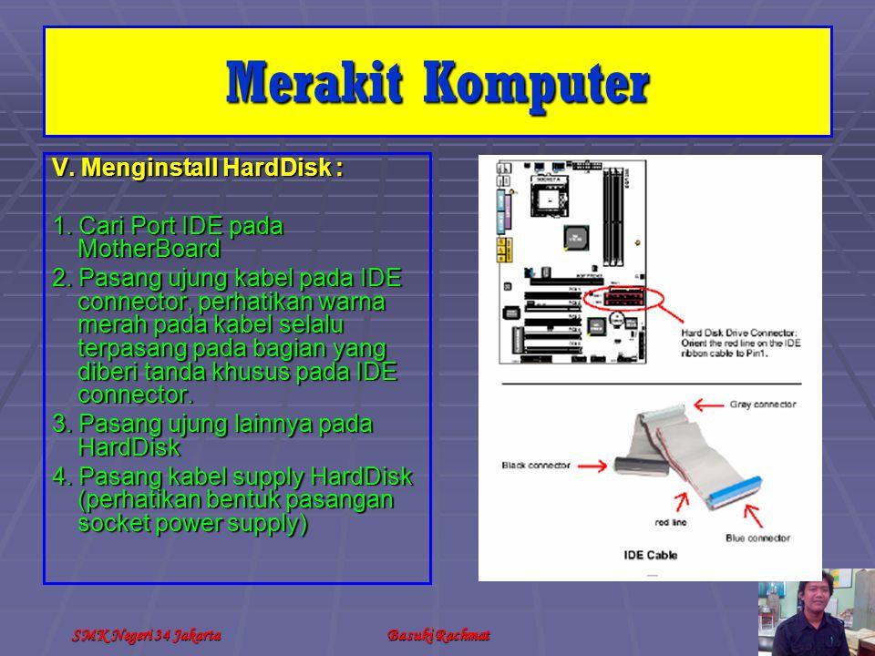 SMK Negeri 34 JakartaBasuki Rachmat V.Menginstall HardDisk : 1.