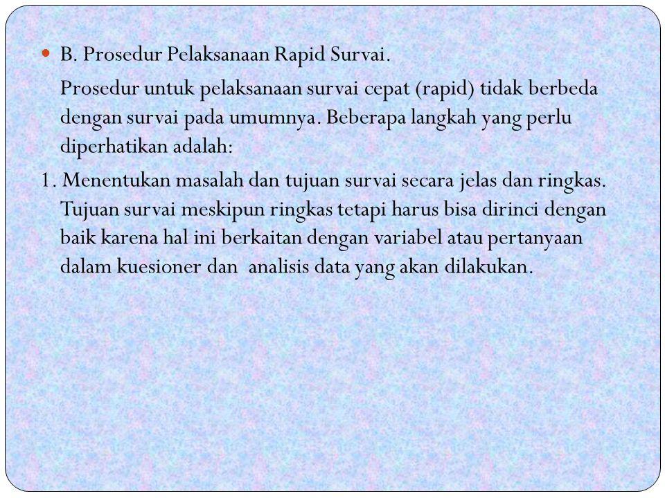 B.Prosedur Pelaksanaan Rapid Survai.