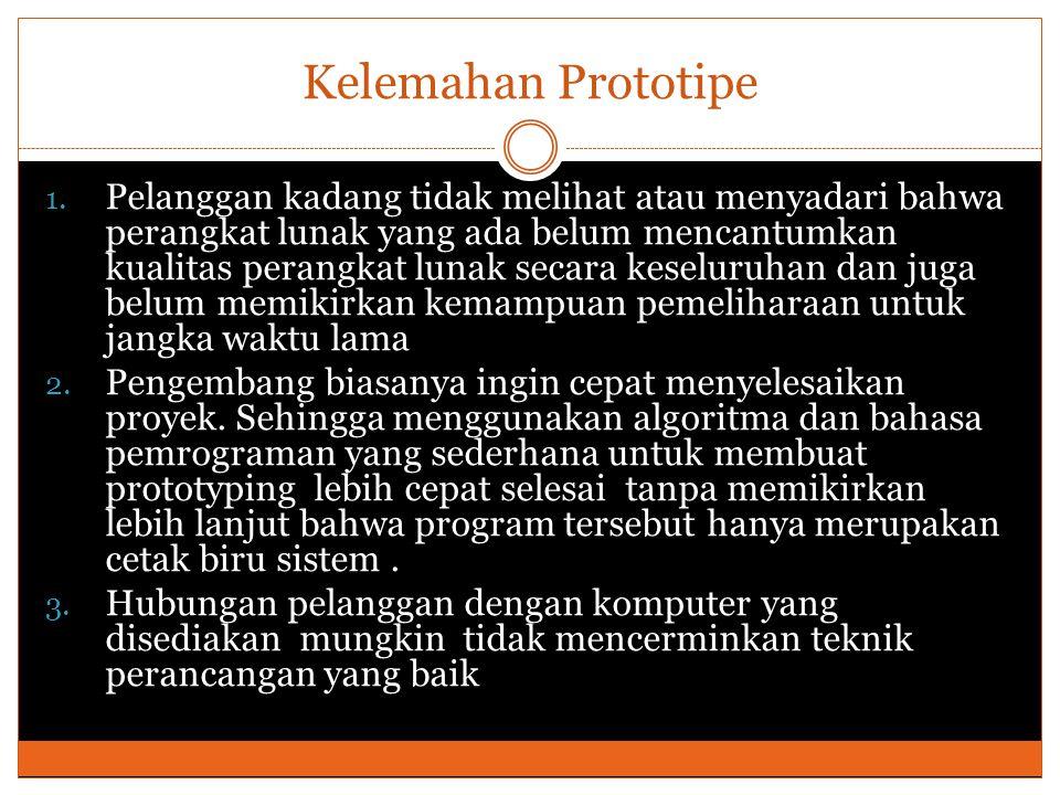 Mengapa menggunakan Prototipe ?