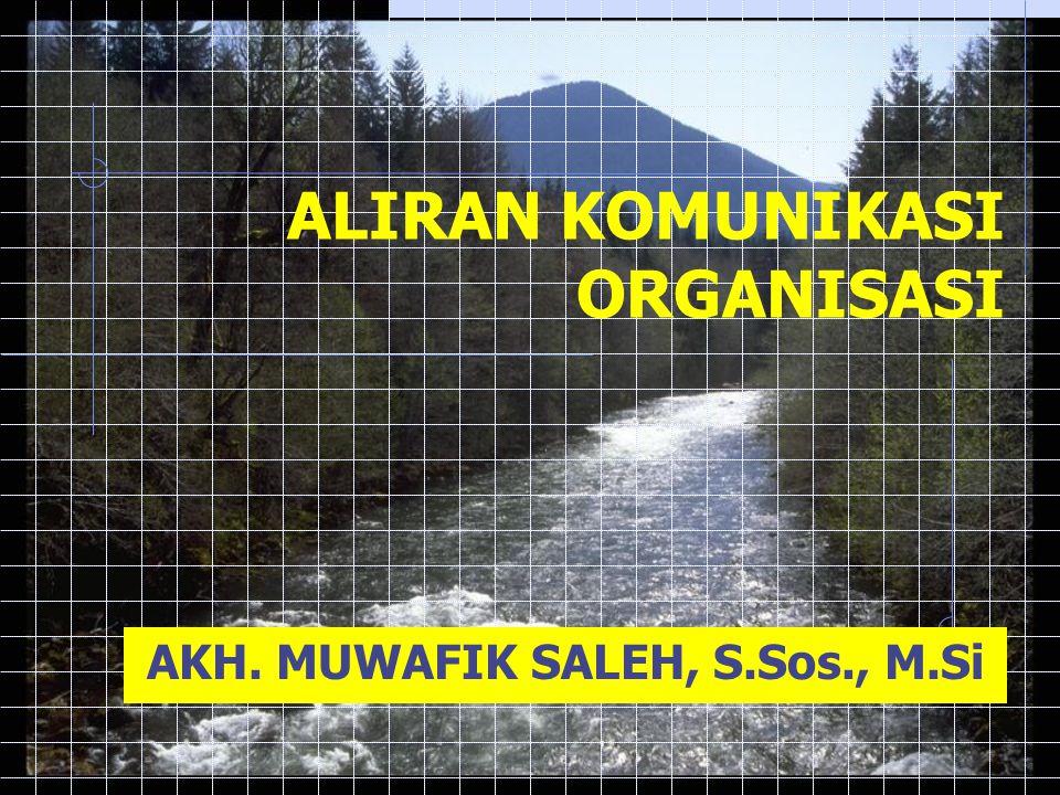 ALIRAN KOMUNIKASI ORGANISASI AKH. MUWAFIK SALEH, S.Sos., M.Si