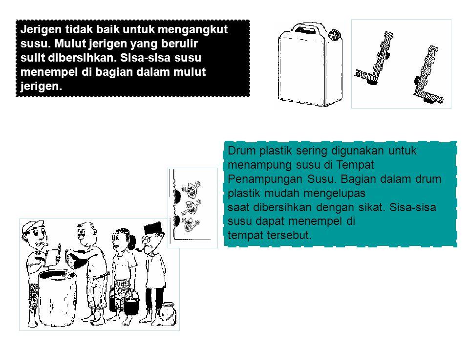 Menyiapkan peralatan susu dengan urutan langkah sebagai berikut : 1.