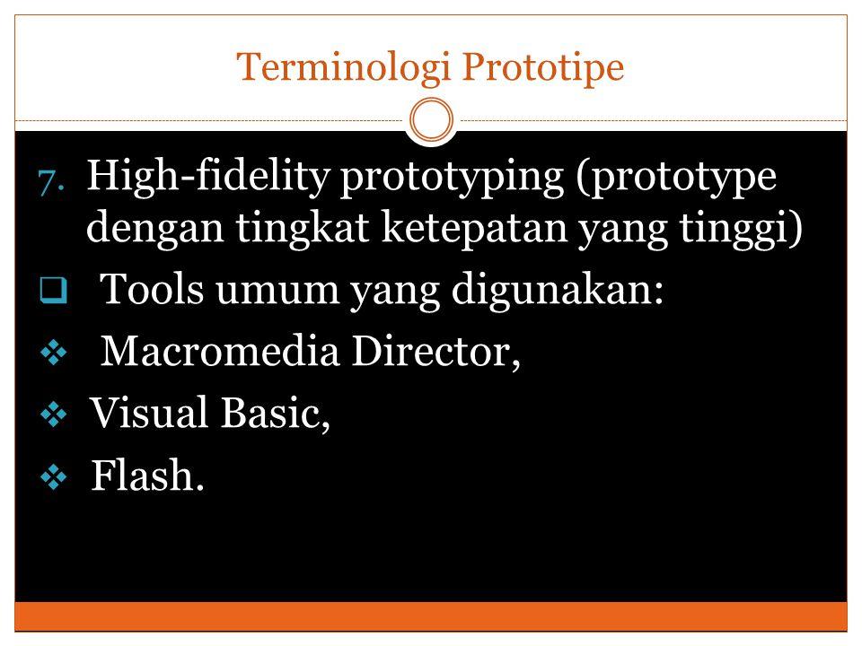 Terminologi Prototipe 7.