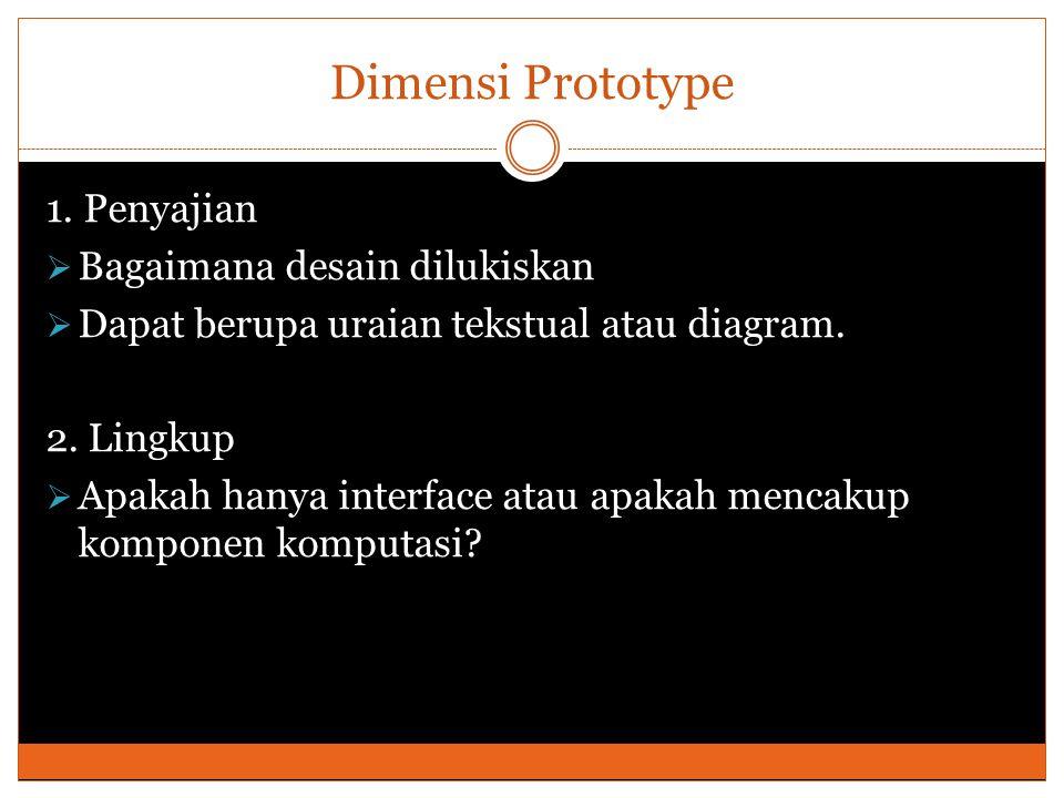 Dimensi Prototype 1.