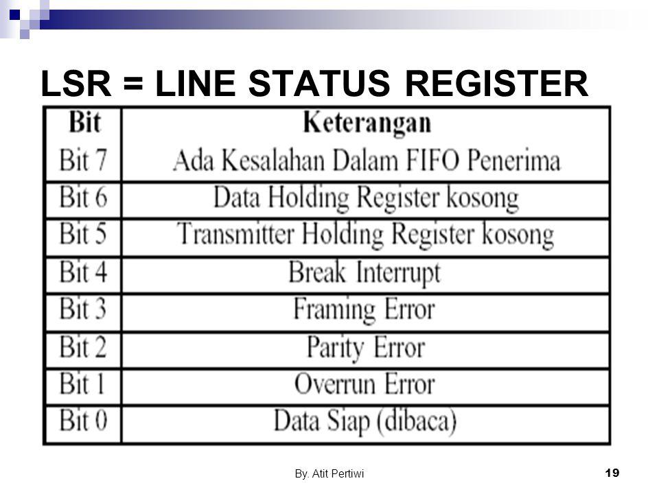 By. Atit Pertiwi19 LSR = LINE STATUS REGISTER