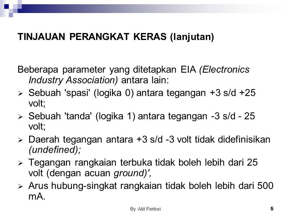 By. Atit Pertiwi5 TINJAUAN PERANGKAT KERAS (lanjutan) Beberapa parameter yang ditetapkan EIA (Electronics Industry Association) antara lain:  Sebuah