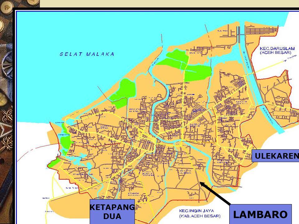 Kehancuran desa dan derita penduduk  dalam waktu ber- samaan terjadi perubahan spa- sial kegiatan ekonomi, pusat perdagangan untuk Banda Aceh berpindah ke beberapa lokasi : > pasar Nesu, > Ketapang Dua, > Ulekareng, dan > Lambaro  lihat peta