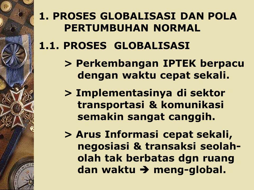 1.PROSES GLOBALISASI DAN POLA PERTUMBUHAN NORMAL 1.1.