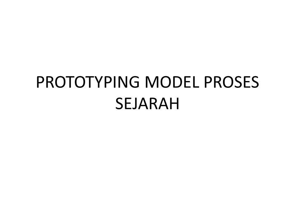 PROTOTYPING MODEL PROSES Pada tahun 1960-an: Teknik-teknik prototyping pertama cepat menjadi diakses pada tahun delapan puluhan kemudian dan mereka digunakan untuk produksi komponen prototipe dan model.