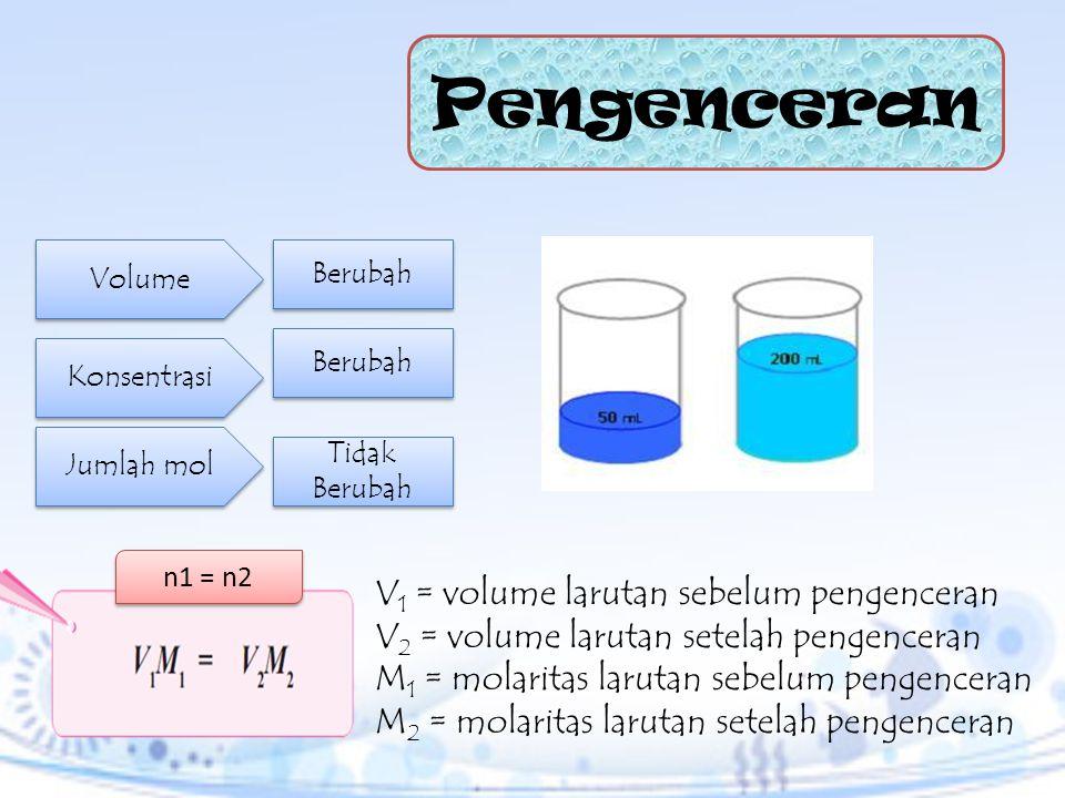 Tentukan molaritas dari asam sulfat pekat yang mengandung 96% H 2 SO 4 dan massa jenis 1,8 kg L–1.