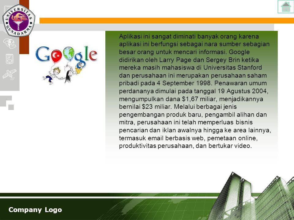 Company Logo Aplikasi ini sangat diminati banyak orang karena aplikasi ini berfungsi sebagai nara sumber sebagian besar orang untuk mencari informasi.