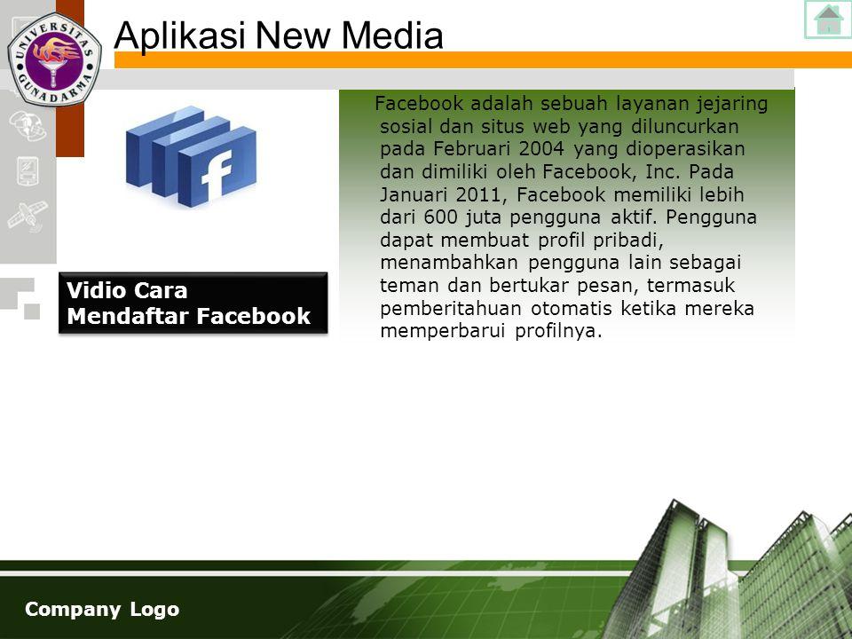 Company Logo Facebook adalah sebuah layanan jejaring sosial dan situs web yang diluncurkan pada Februari 2004 yang dioperasikan dan dimiliki oleh Face