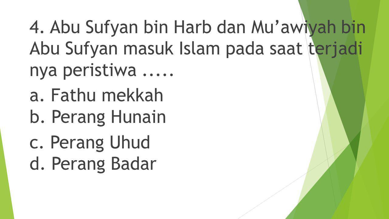 3.Dalam peristiwa 'amul-jama'ah, Mu'awiyah bin Abu Sufyan membuat perjanjian damai dengan.....