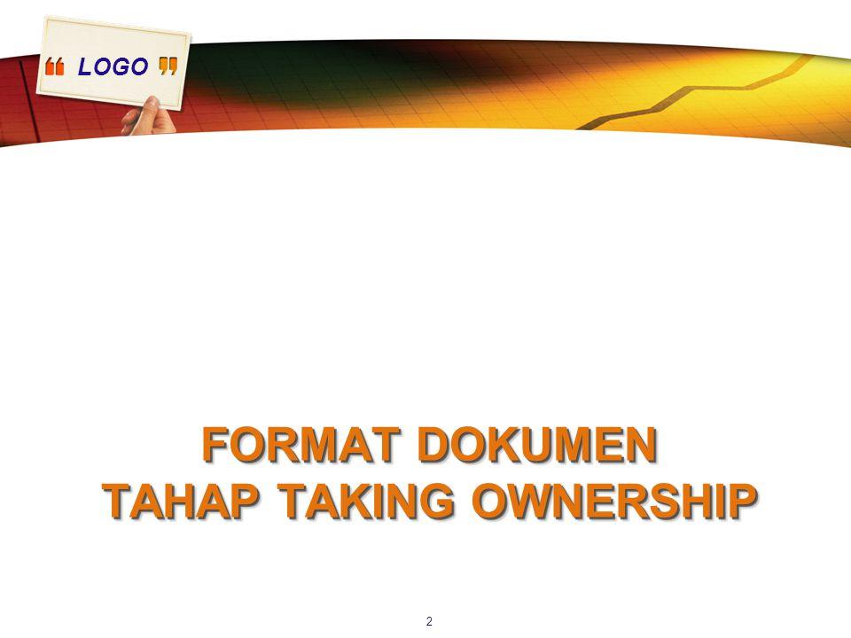 LOGO FORMAT DOKUMEN TAHAP TAKING OWNERSHIP 2