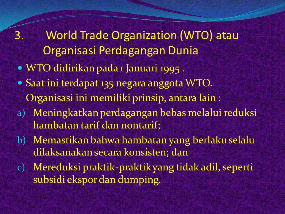 KTT APEC, November 1994 di Bogor, diputuskan Deklarasi Bogor berisi tiga belas (13) butir, antara lain : a) APEC mempromosikan kerja sama ekonomi berd