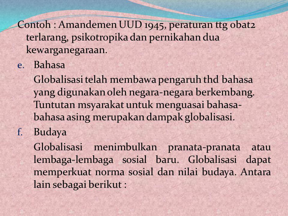 b. Politik Demokrasi, kebebasan mengemukakan pendapat, dan transparansi telah dijamin oleh peraturan perundang-undangan. c. Ekonomi Terbukanya Indones