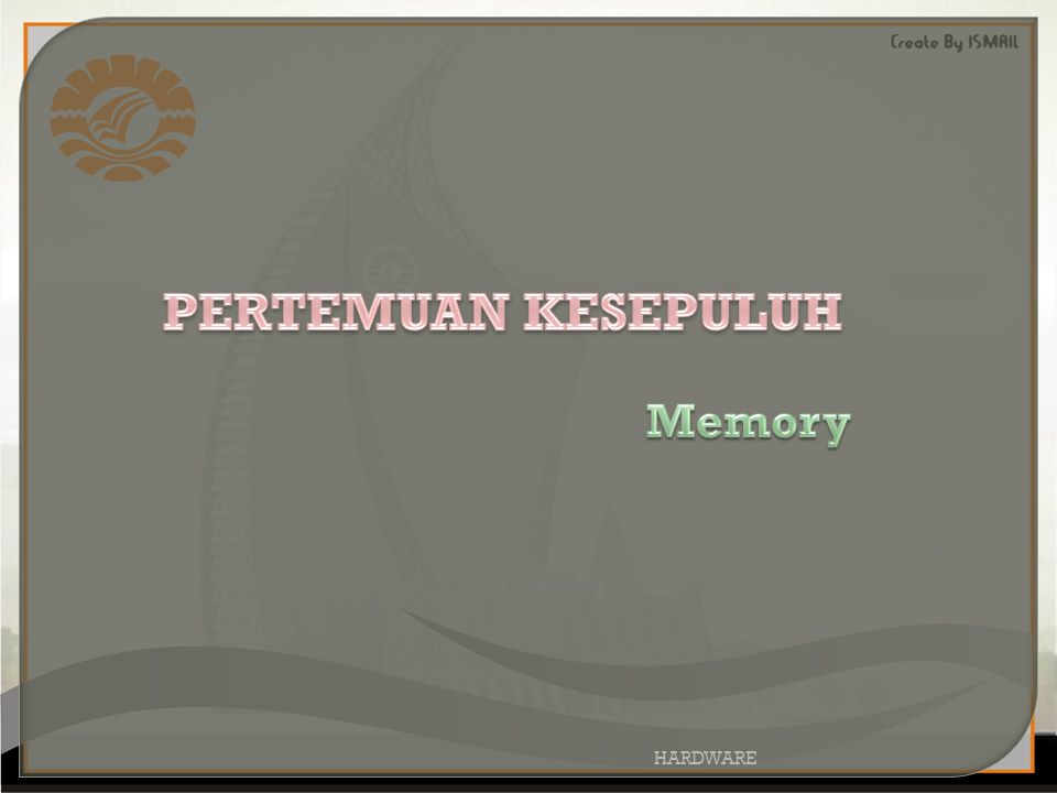 Memory komputer bisa diibaratkan sebagai papan tulis, dimana setiap orang yang masuk kedalam ruangan bisa membaca dan memanfaatkan data yang ada dengan tanpa merubah susunan yang tersaji.