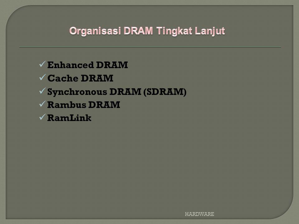 Enhanced DRAM Cache DRAM Synchronous DRAM (SDRAM) Rambus DRAM RamLink HARDWARE