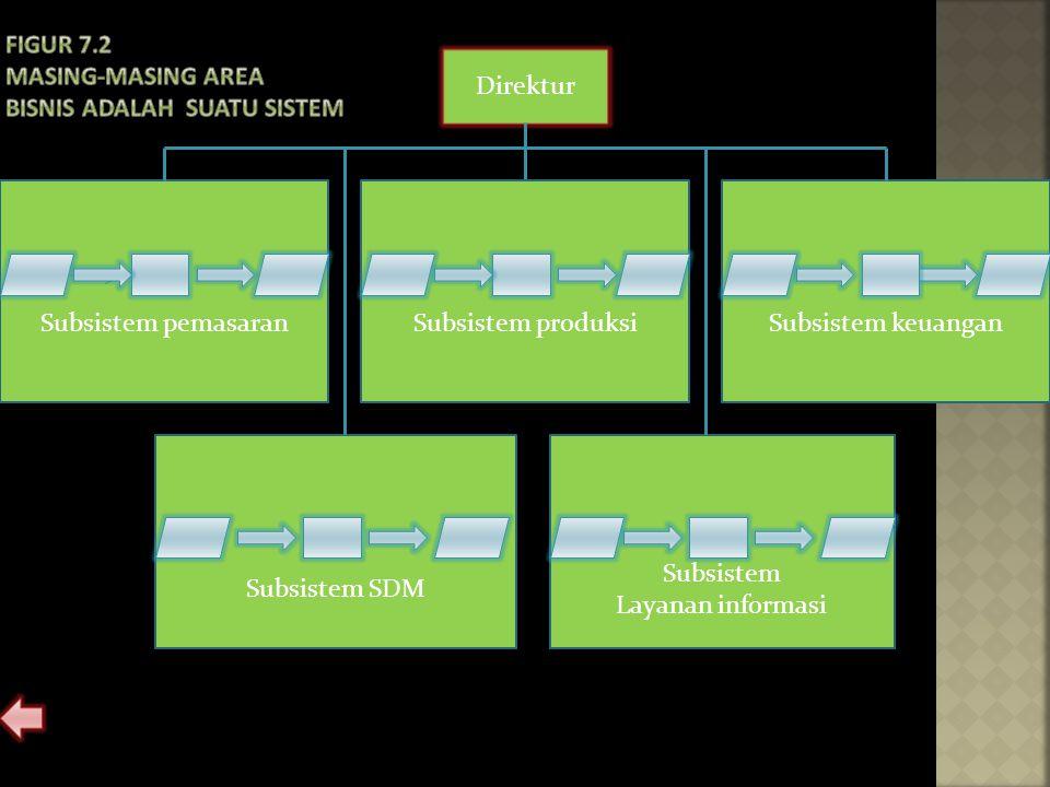 Direktur Subsistem produksiSubsistem pemasaranSubsistem keuangan Subsistem SDM Subsistem Layanan informasi