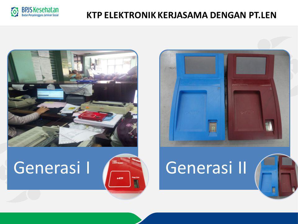 KTP ELEKTRONIK KERJASAMA DENGAN PT.LEN Generasi IGenerasi II