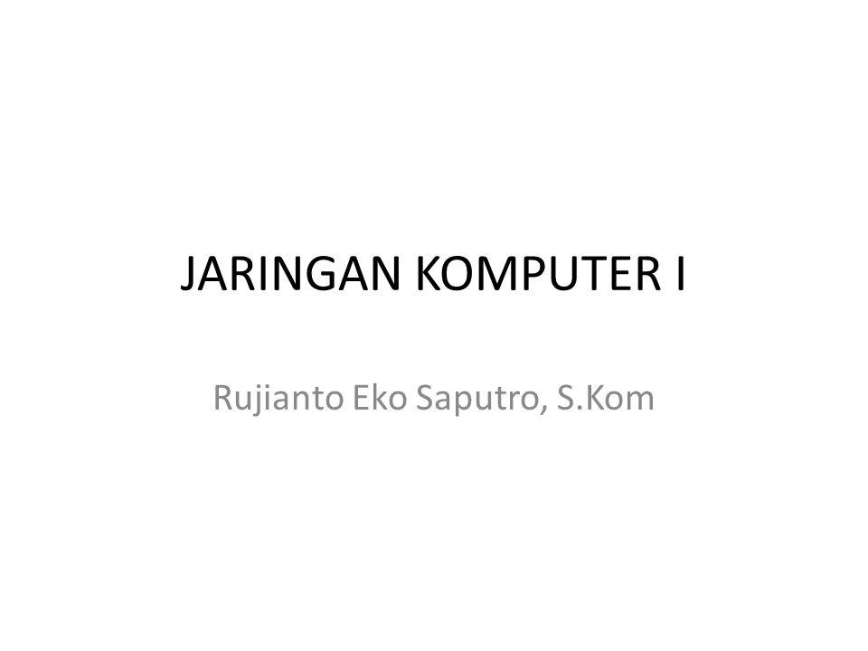 JARINGAN KOMPUTER I Rujianto Eko Saputro, S.Kom