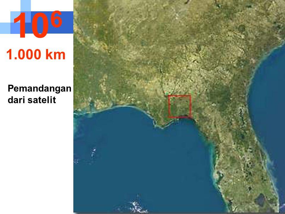 Diketinggian ini propinsi Florida - Amerika Serikat mulai bisa dilihat.. 10 5 100 km