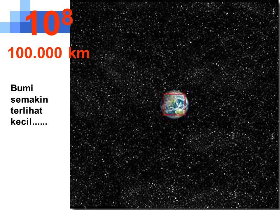 Benua Amerika mulai terlihat 10 7 10.000 km