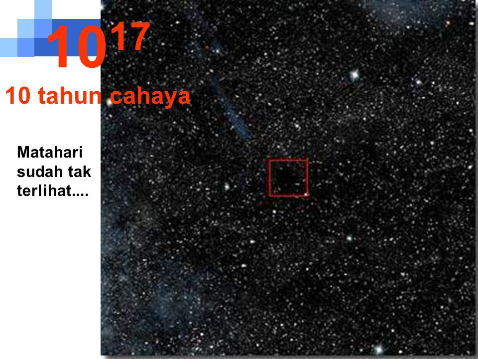 Pada jarak satu tahun cahaya matahari jadi sangat kecil... 10 16 1 tahun cahaya