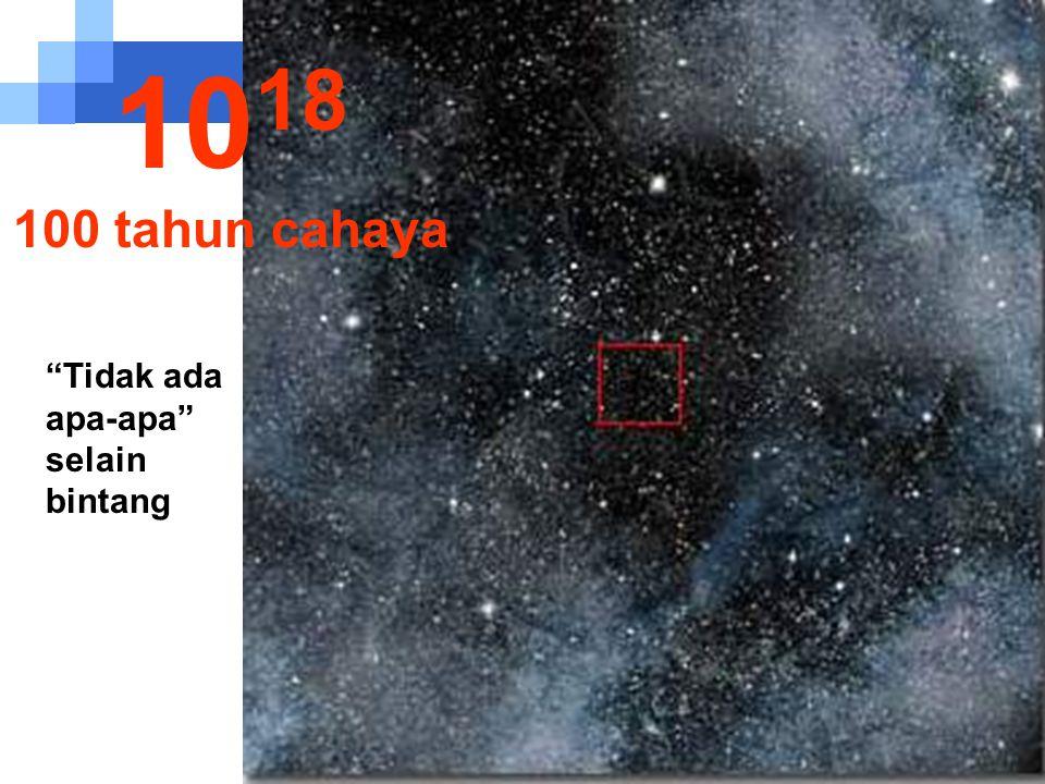 Matahari sudah tak terlihat.... 10 17 10 tahun cahaya