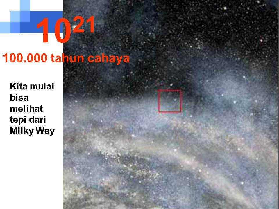 Kita melanjutkan perjalanan di Milky Way. 10 20 10.000 tahun cahaya