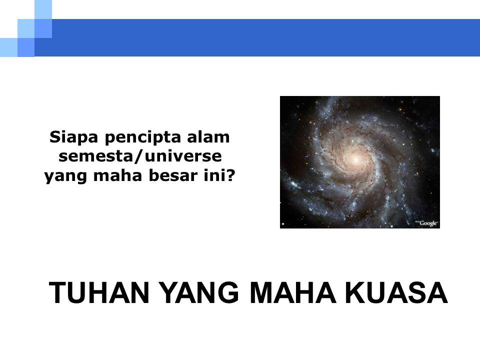 Ada apa diluar limit yang diketahui? Apakah ada limit? Sekarang... Apakah anda titik pusat alam semesta/universe? Apakah anda kreasi spesial dari Yang