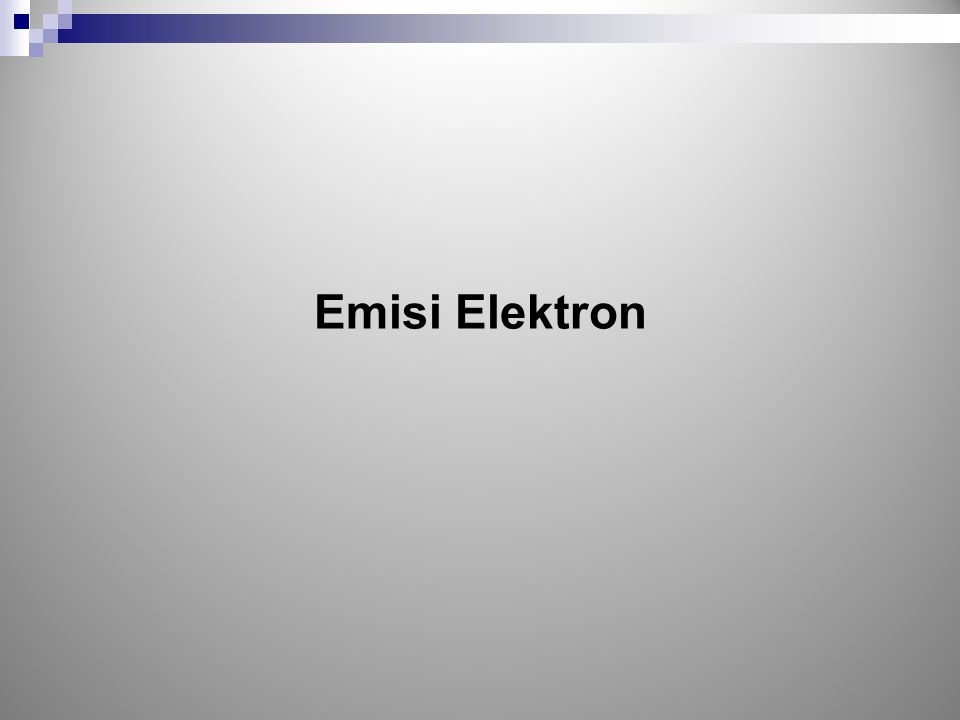Emisi Elektron