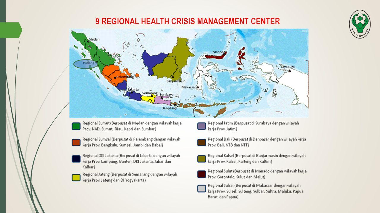 9 REGIONAL HEALTH CRISIS MANAGEMENT CENTER