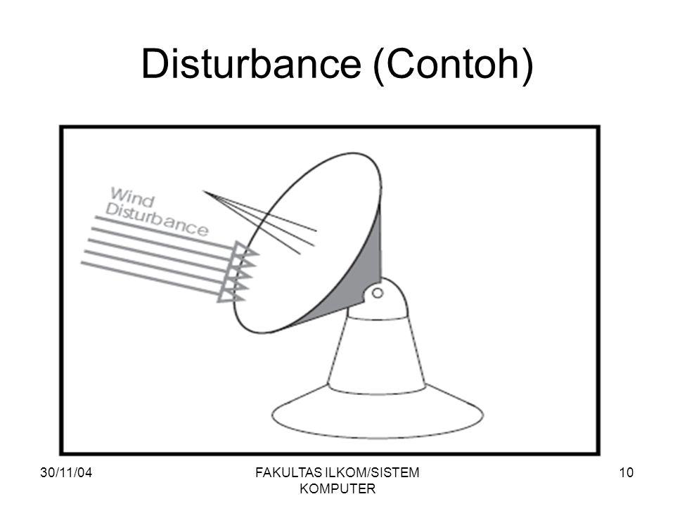 30/11/04FAKULTAS ILKOM/SISTEM KOMPUTER 10 Disturbance (Contoh)