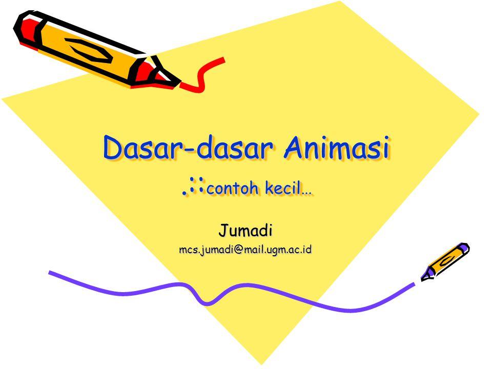 Dasar-dasar Animasi.:: contoh kecil… Jumadimcs.jumadi@mail.ugm.ac.id