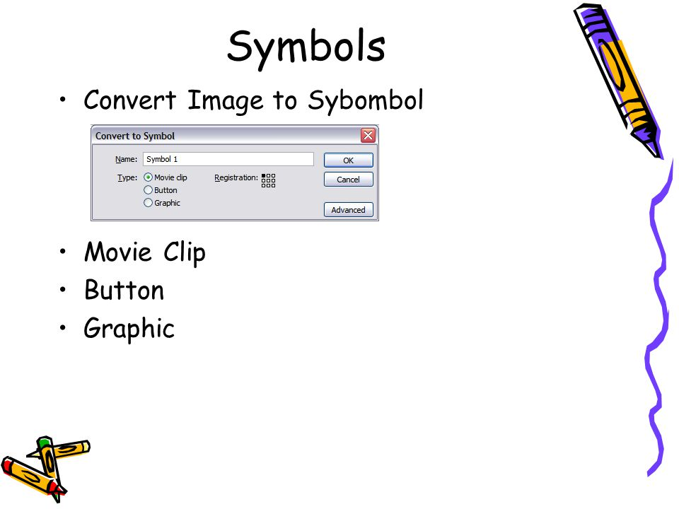 Symbols Convert Image to Sybombol Movie Clip Button Graphic