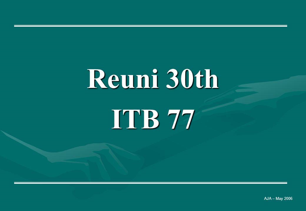 Reuni 30th ITB 77 AJA – May 2006