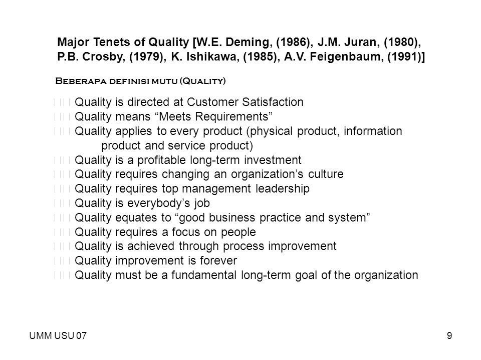 UMM USU 0720 Keterkaitan dengan penjaminan mutu satuan pendidikan Dalam siklus, peningkatan mutu yang berkelanjutan ---  standar perlu dievaluasi dan direvisi/ditingkatkan --  secara berkelanjutan.
