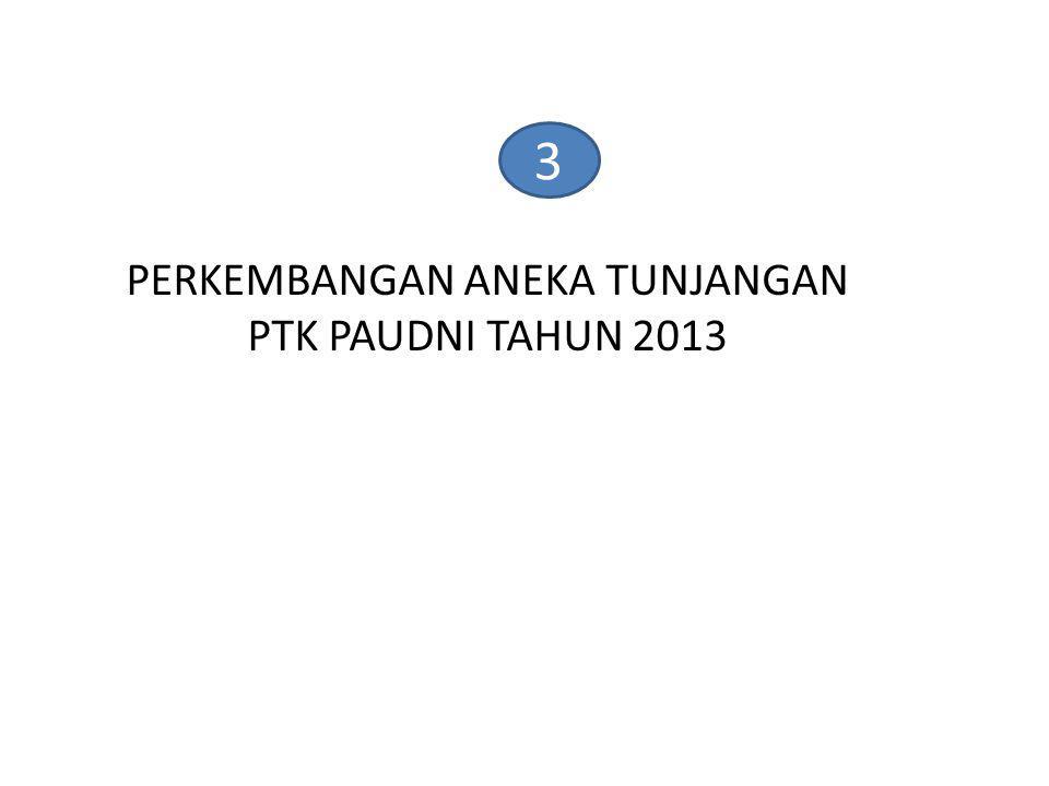 3 PERKEMBANGAN ANEKA TUNJANGAN PTK PAUDNI TAHUN 2013