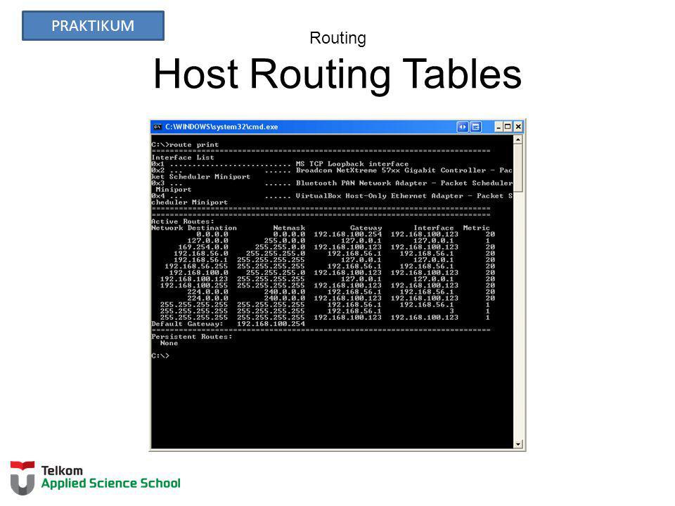 Routing Host Routing Tables PRAKTIKUM
